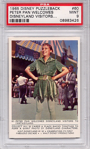 1965 Disney Puzzleback - Peter Pan Welcomes #60 PSA 9