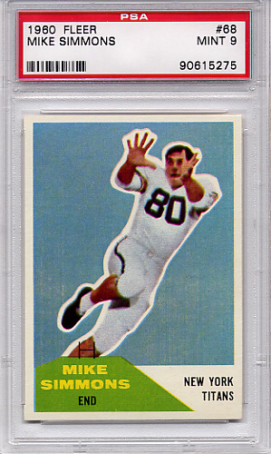 1960 Fleer Mike Simmons #68 PSA 9