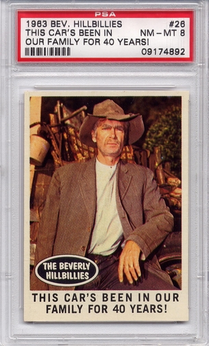 1963 Beverly Hillbillies - This Car's Been In Our Family #26 PSA 8