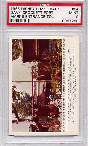 1965 DisneyPuzzleback - Davy Crockett Fort #64 PSA 9