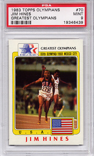 1983 Topps Olympians Jim Hines #70 PSA 9 None Higher