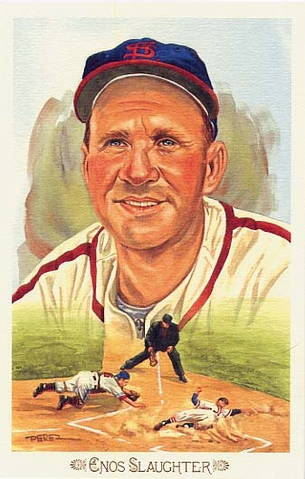 Enos Slaughter Perez-Steele Celebration Postcard #37