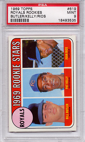 1969 Topps Royals Rookies #619 PSA 9 None Higher