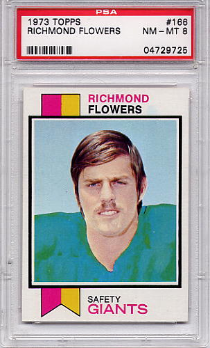 1973 Topps Richmond Flowers #166 PSA 8