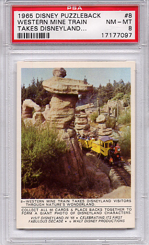 1965 Disney Puzzleback - Western Mine Train #8 PSA 8