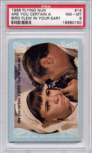 1968 Flying Nun - Are You Certain A Bird Flew In Your Ear? #14 PSA 8
