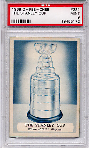 1969 O-Pee-Chee The Stanley Cup #231 PSA 9