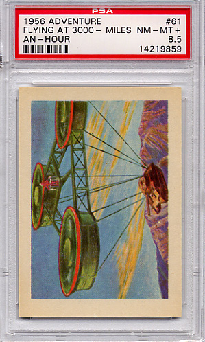 1956 Adventure - Flying At 3000 Miles An Hour #61 PSA 8.5