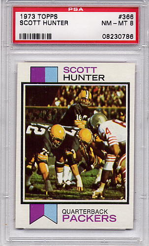 1973 Topps Scott Hunter #366 PSA 8