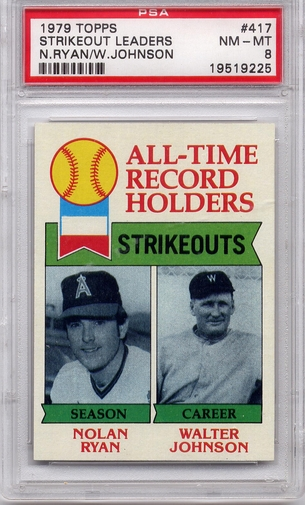 1979 Topps Strikeout Leaders #417 PSA 8