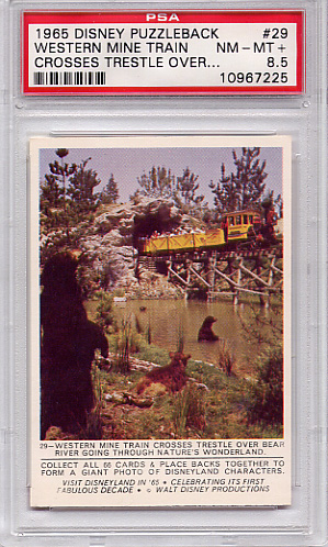1965 Disney Puzzleback - Western Mine Train #29 PSA 8.5