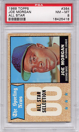 1968 Topps Joe Morgan All Star #364 PSA 8