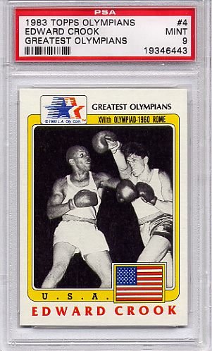 1983 Topps Olympians Edward Crook #4 PSA 9