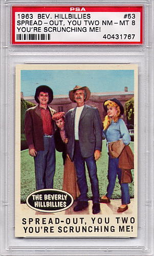 1963 Beverly Hillbillies - Spread-Out, You Two #53 PSA 8