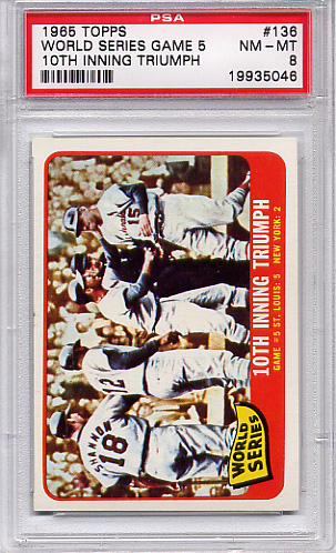 1965 Topps World Series Game 5 #136 PSA 8