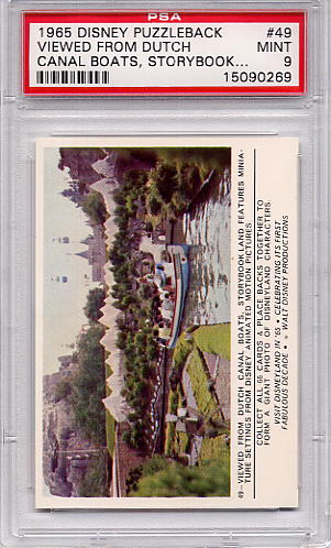 1965 Disney Puzzleback - Viewed From Dutch Canal Boats #49 PSA 9