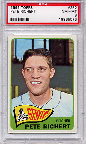 1965 Topps Pete Richert #252 PSA 8