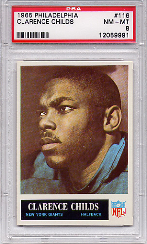 1965 Philadelphia Clarence Childs #116 PSA 8