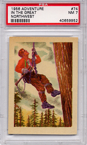 1956 Adventure - In The Great Northwest #74 PSA 7