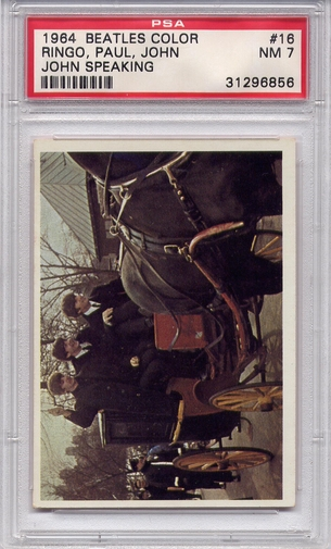 1964 Beatles Color - Ringo, Paul, John - John Speaking #16 PSA 7