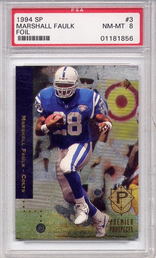 1994 SP Marshall Faulk #3 PSA 8