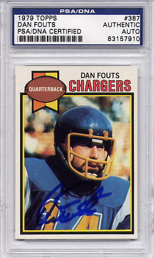 Dan Fouts PSA/DNA Certified Authentic Autograph - 1979 Topps