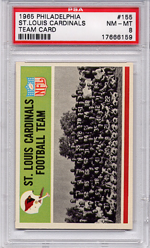 1965 Philadelphia - Cardinals Team Card #155 PSA 8