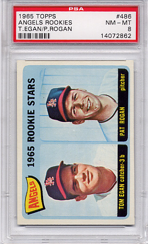 1965 Topps Angels Rookies #486 PSA 8