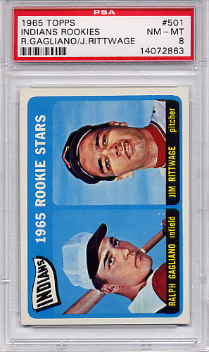 1965 Topps Indians Rookies #501 PSA 8