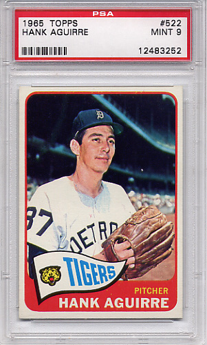 1965 Topps Hank Aguirre #522 PSA 9