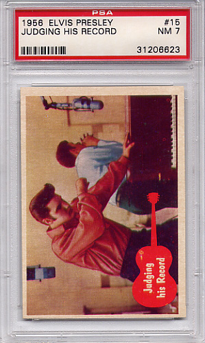 1956 Elvis Presley - Judging His Record #15 PSA 7