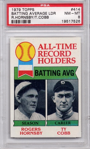 1979 Topps Batting Average Leaders #414 PSA 8