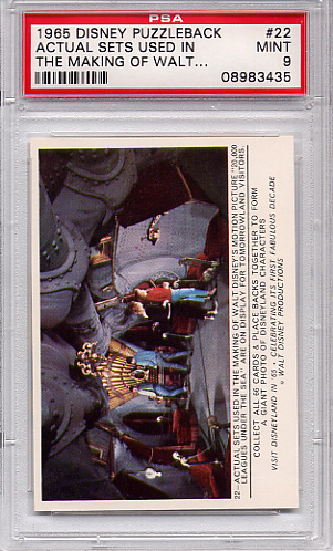 1965 Disney Puzzleback - Actual Sets Used #22 PSA 9