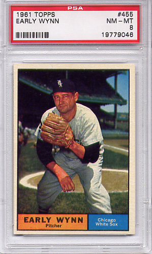 1961 Topps Early Wynn #455 PSA 8
