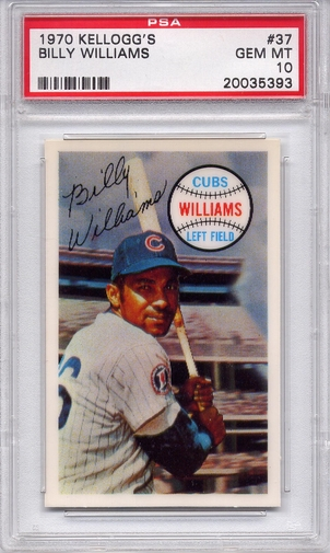1970 Kellogg's Billy Williams #37 PSA 10