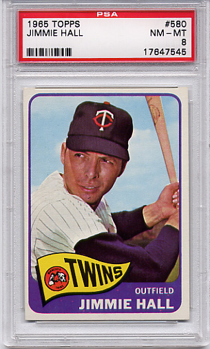 1965 Topps Jimmie Hall #580 PSA 8 Short Print
