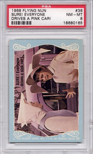 1968 Flying Nun - Sure! Everyone Drives A Pink Car! #36 PSA 8