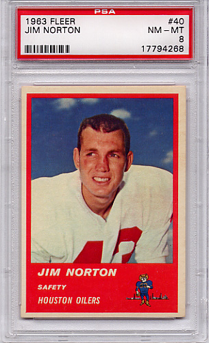 1963 Fleer Jim Norton #40 PSA 8