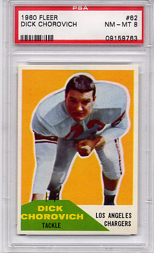 1960 Fleer Dick Chorovich #62 PSA 8
