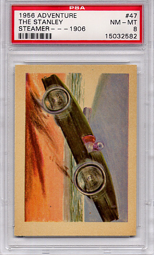 1956 Adventure - The Stanley Steamer - 1906 #47 PSA 8