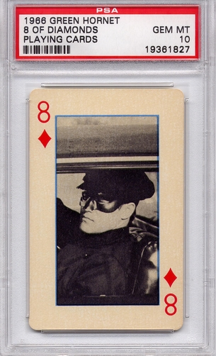 1966 Green Hornet Playing Cards - 8 Of Diamonds PSA 10