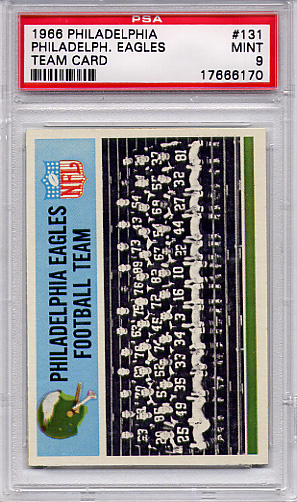 1966 Philadelphia - Eagles Team #131 PSA 9 None Higher