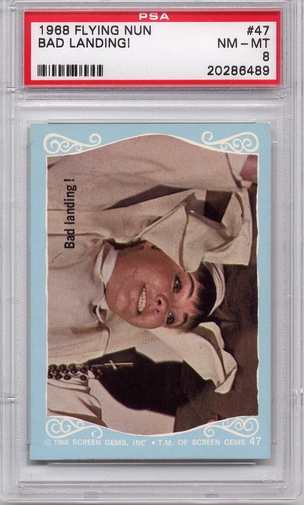 1968 Flying Nun - Bad Landing! #47 PSA 8