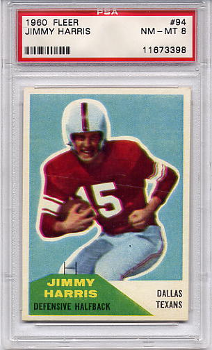 1960 Fleer Jimmy Harris #94 PSA 8