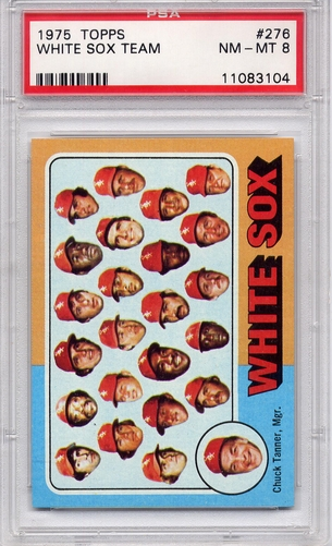 1975 Topps White Sox Team #276 PSA 8