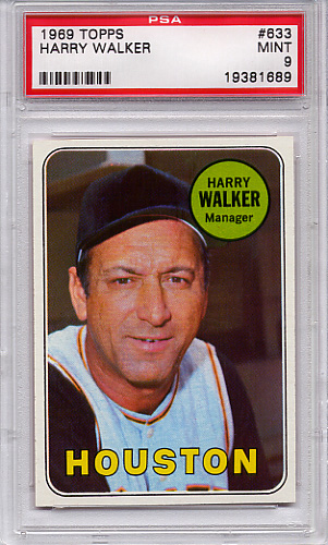 1969 Topps Harry Walker #633 PSA 9