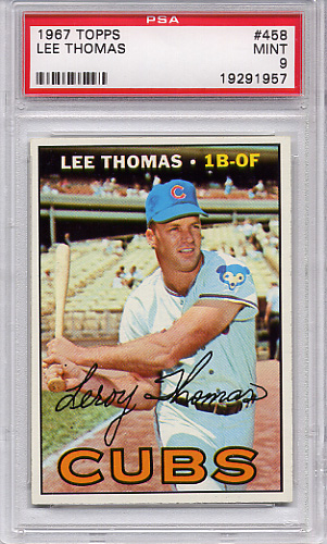 1967 Topps Lee Thomas #458 PSA 9