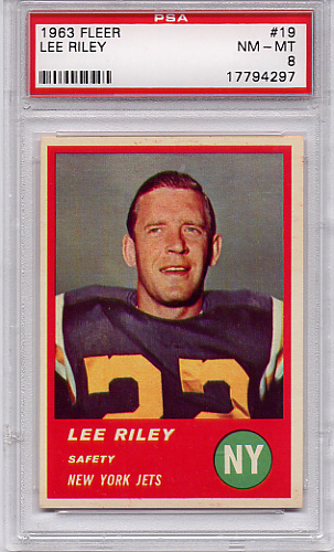 1963 Fleer Lee Riley #19 PSA 8