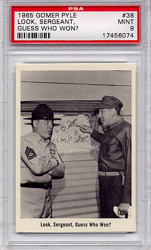 1965 Gomer Pyle - Look, Sergeant, Guess Who Won #38 PSA 9