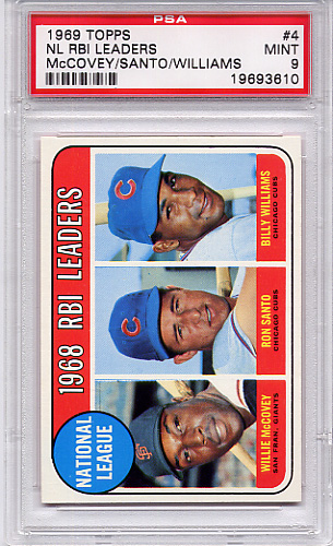 1969 Topps NL RBI Leaders #4 PSA 9